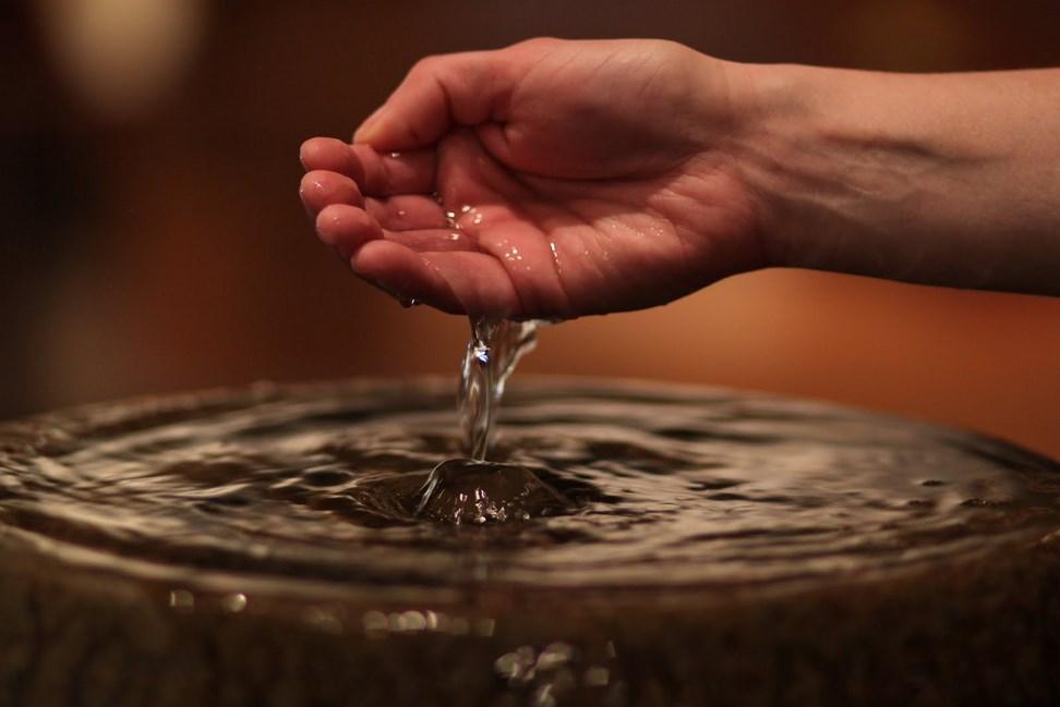 Image result for baptism water font
